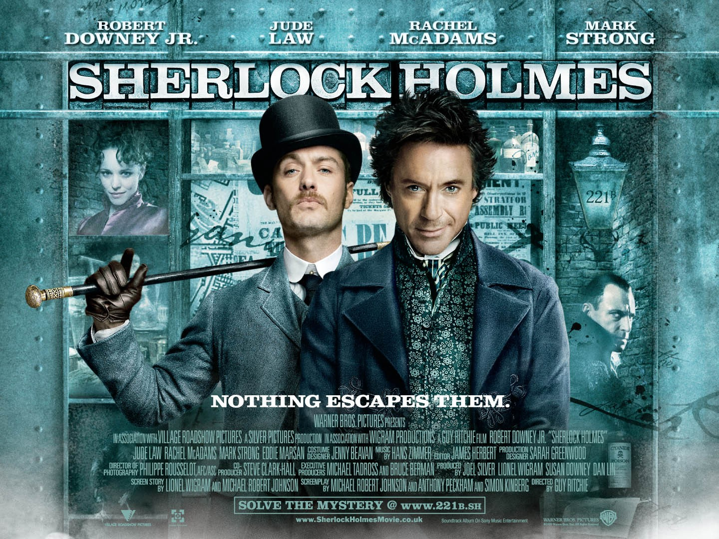 Movie Posters 2009: Sherlock Holmes UK Poster