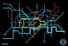 Tron Legacy Fan Art - Tube Map