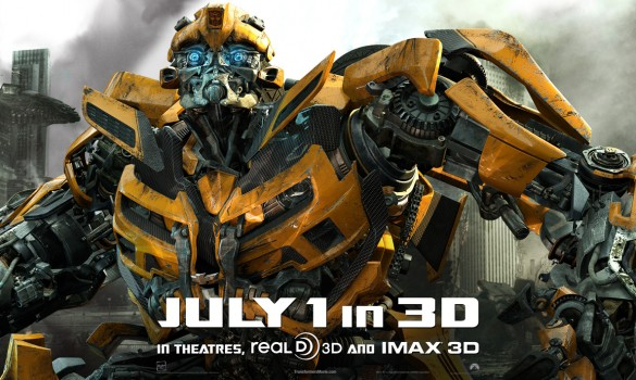 transformers dark of the moon bumblebee poster. As the poster suggests,