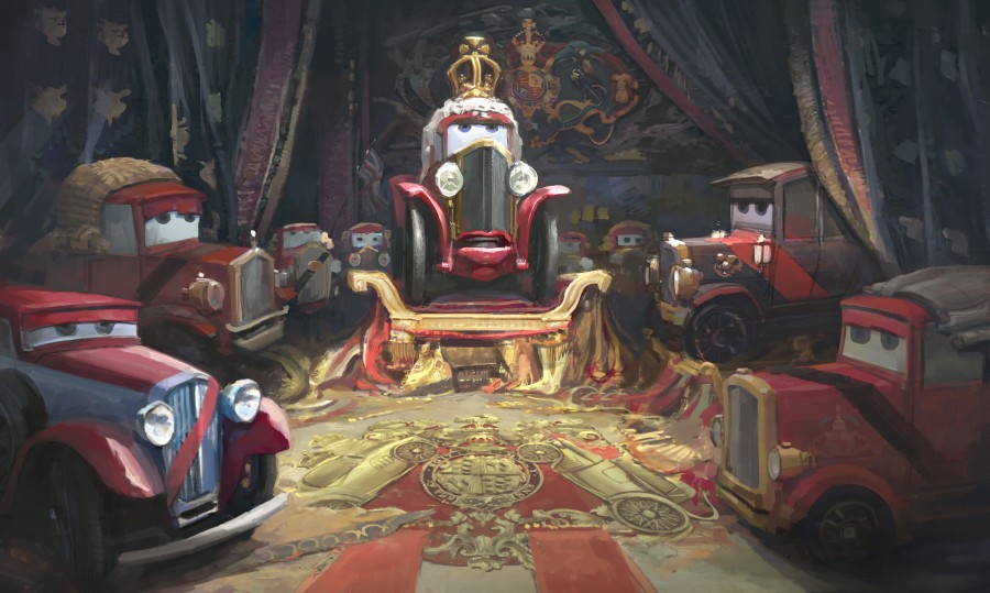 [Pixar] Cars 2 (2011) - Sujet de pré-sortie - Page 20 Cars-2-queen-concept-art-900x539