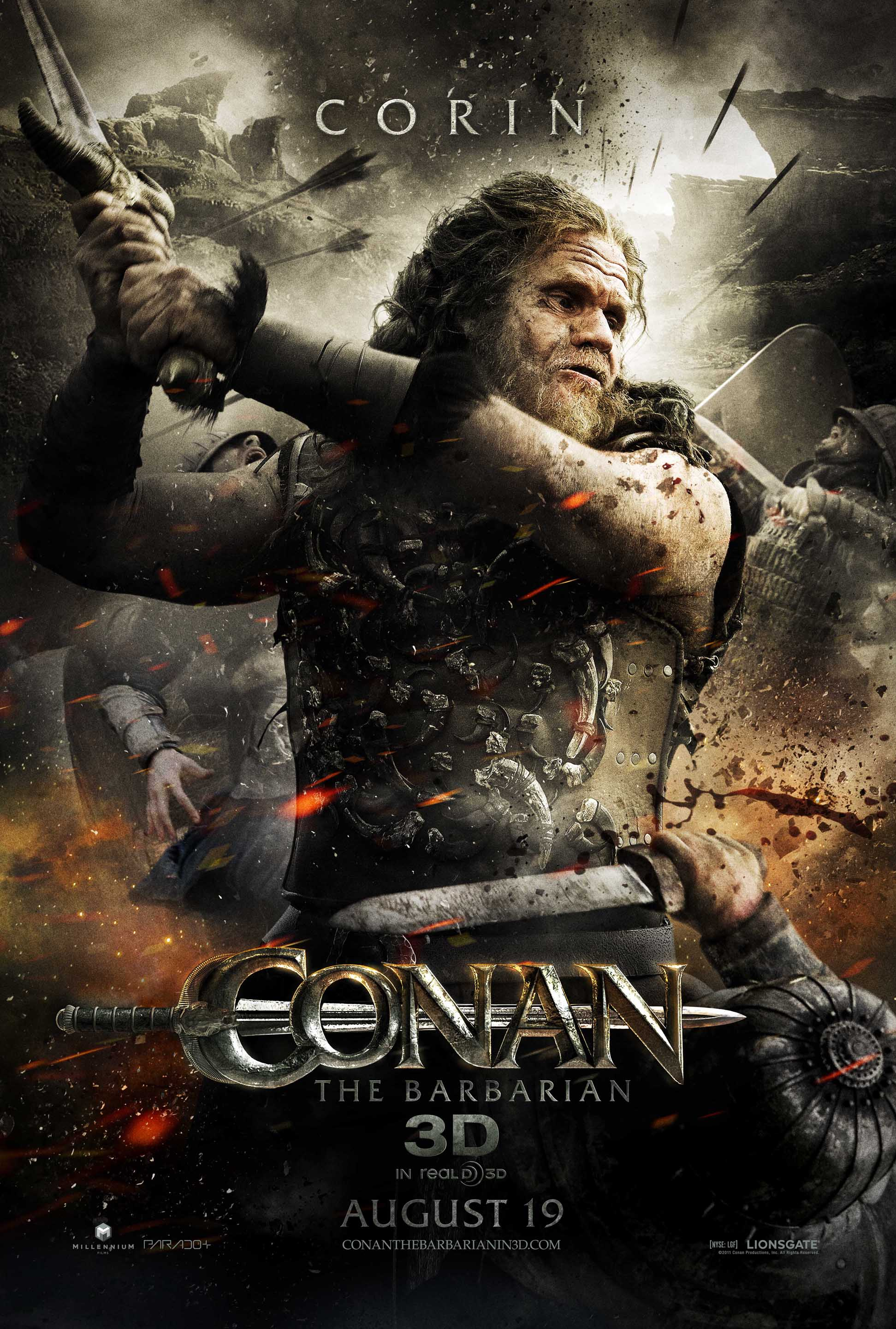 Conan the Barbarian Poster - Ron Perlman - HeyUGuys : jungle book movie poster : Movie Poster