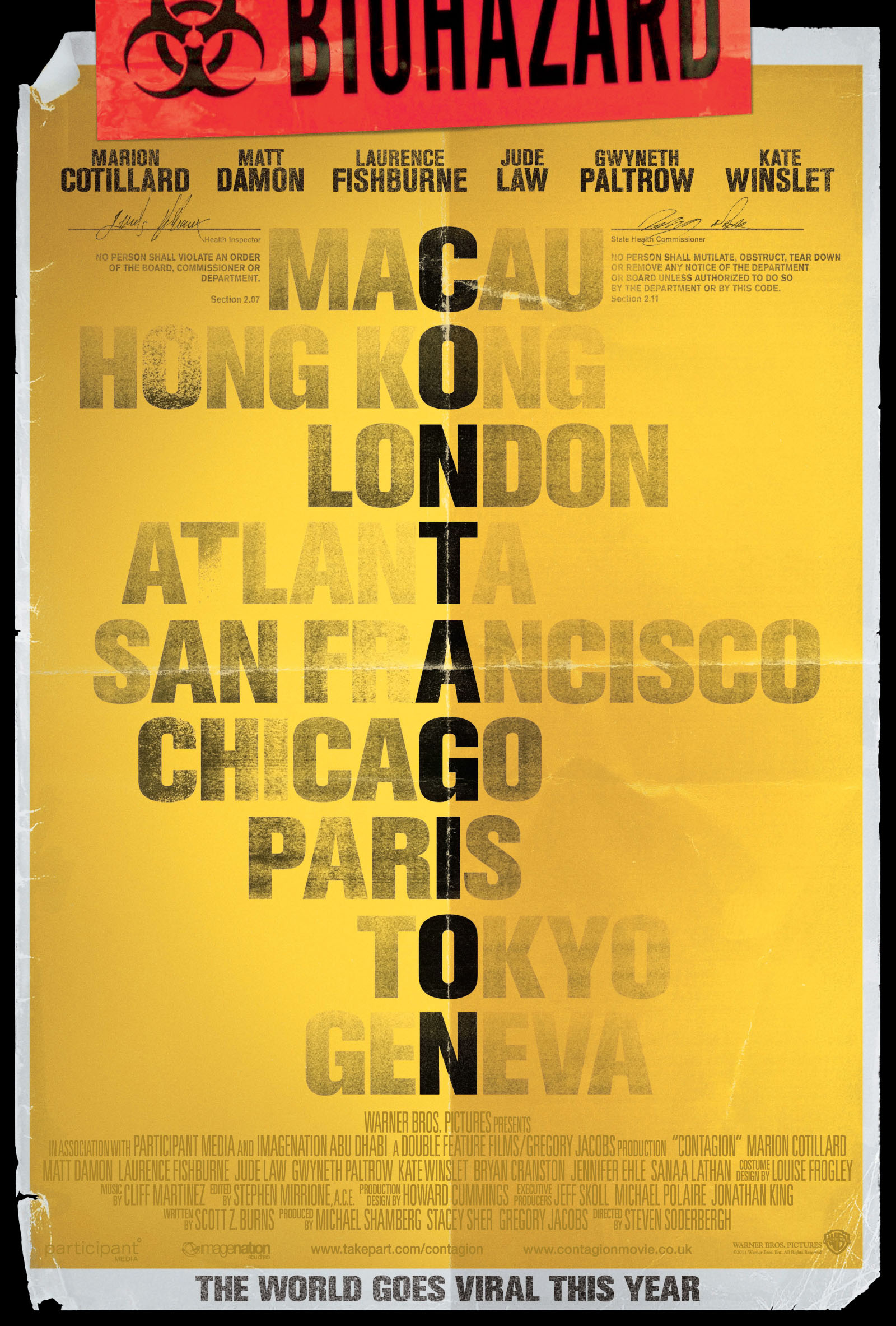 Exclusive look at the UK poster for Contagion - HeyUGuys