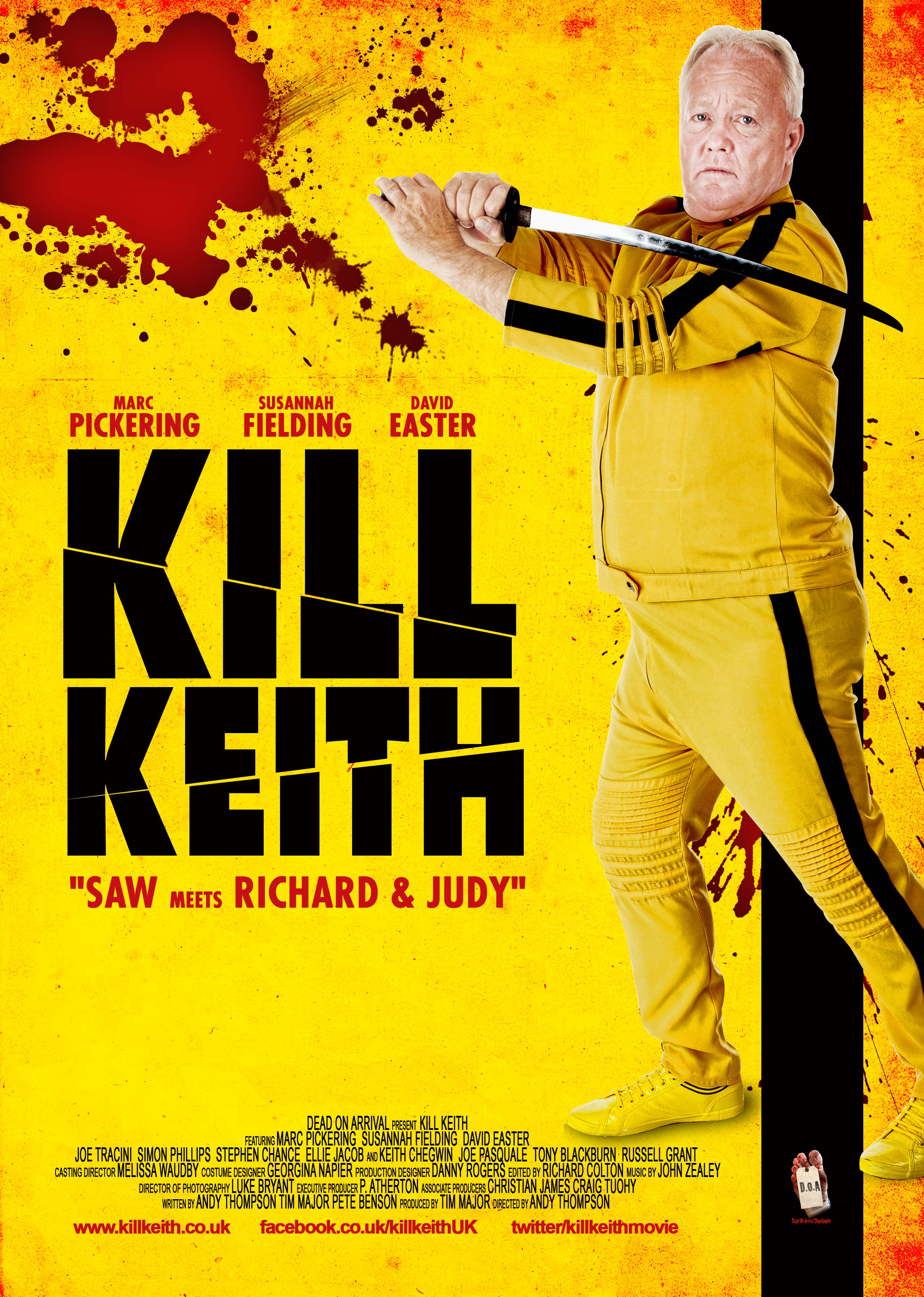 first uk poster for kill keith starring keith chegwin equipped with samurai sword