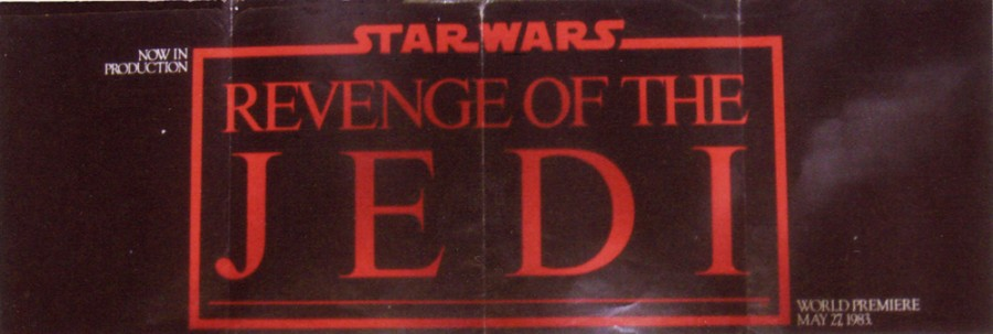 Revenge of the Jedi fold out