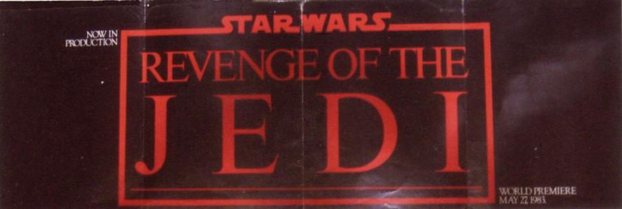 Revenge of the Jedi fold out
