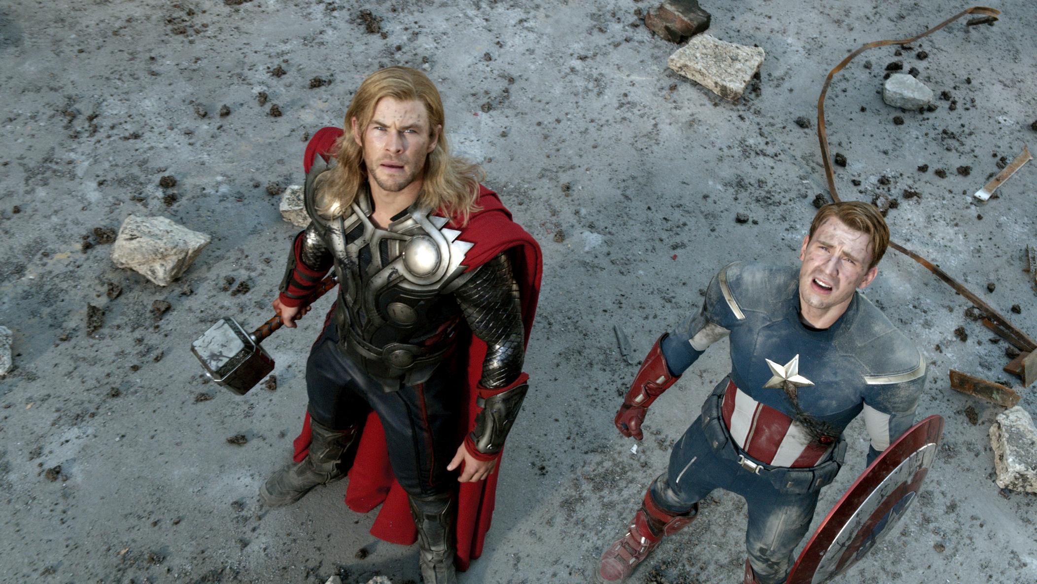 The Movie Roman J Israel >> The Avengers - Thor and Captain America - HeyUGuys