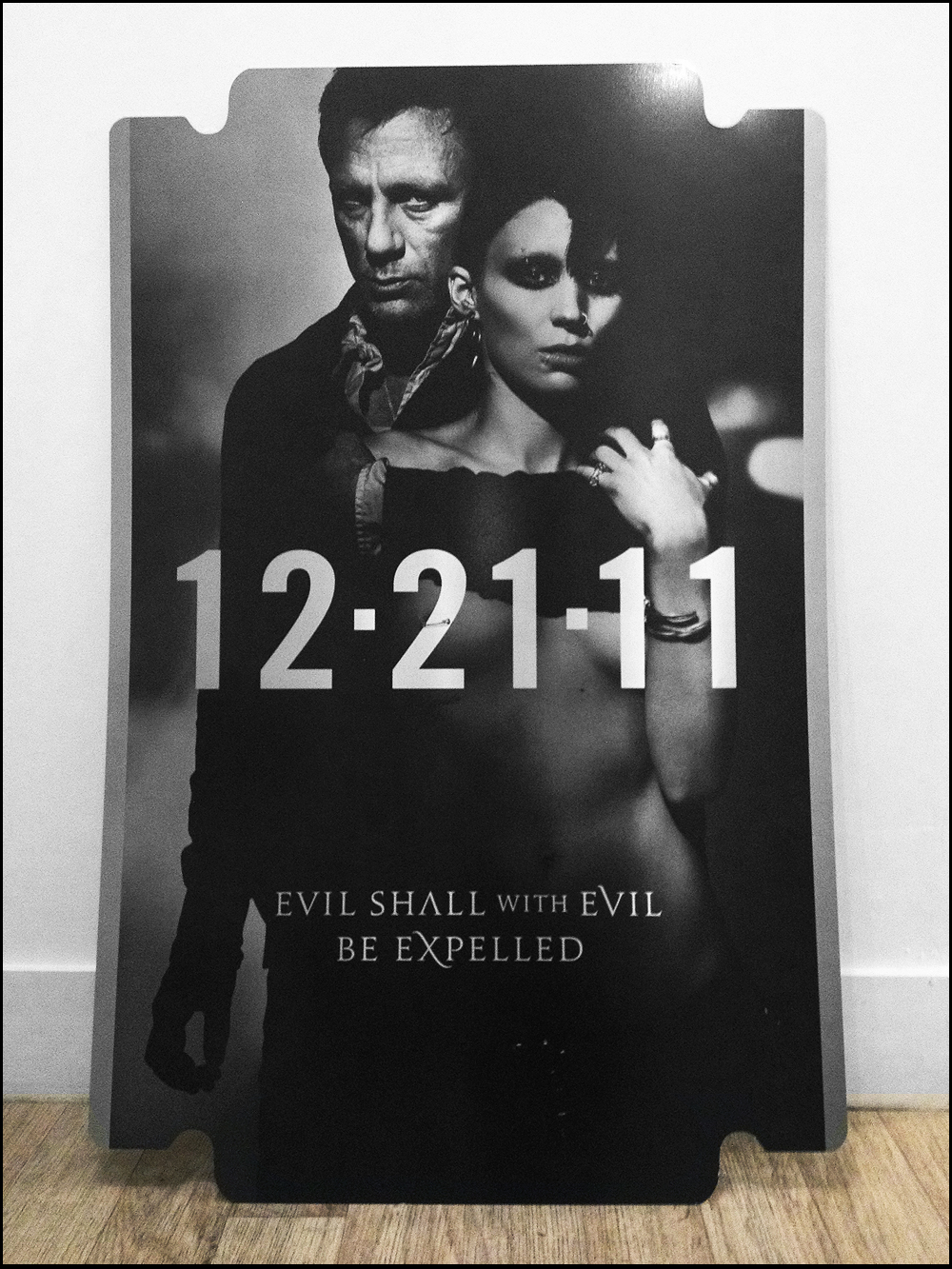 Edition metal one sheet poster with the girl with the dragon tattoo
