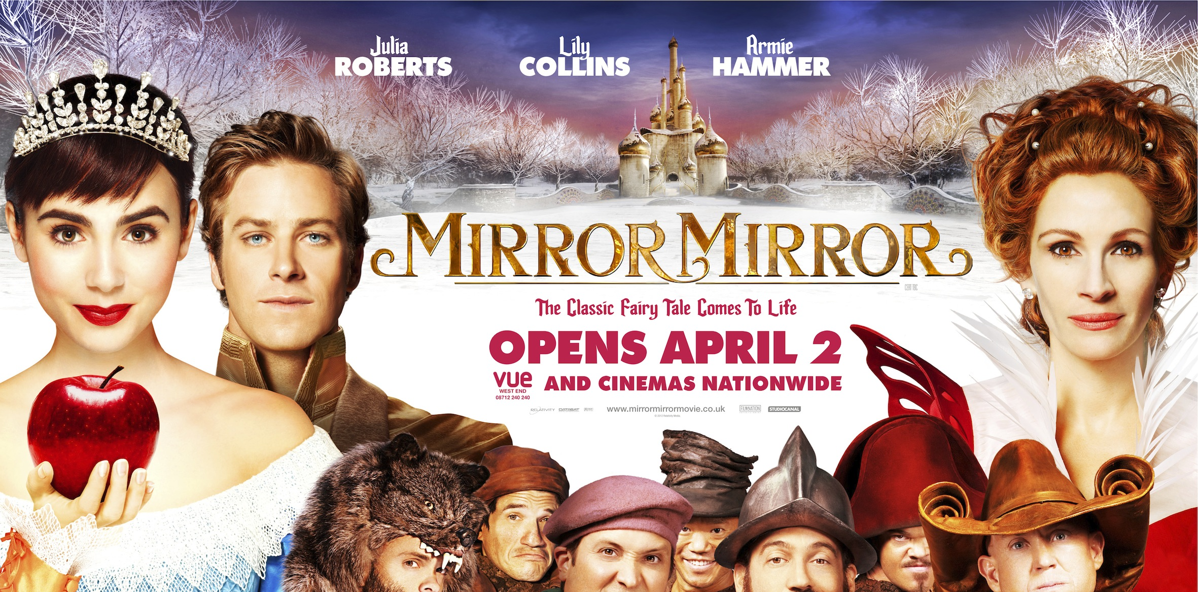 Exclusive uk posters for mirror mirror heyuguys for Mirror 1 movie