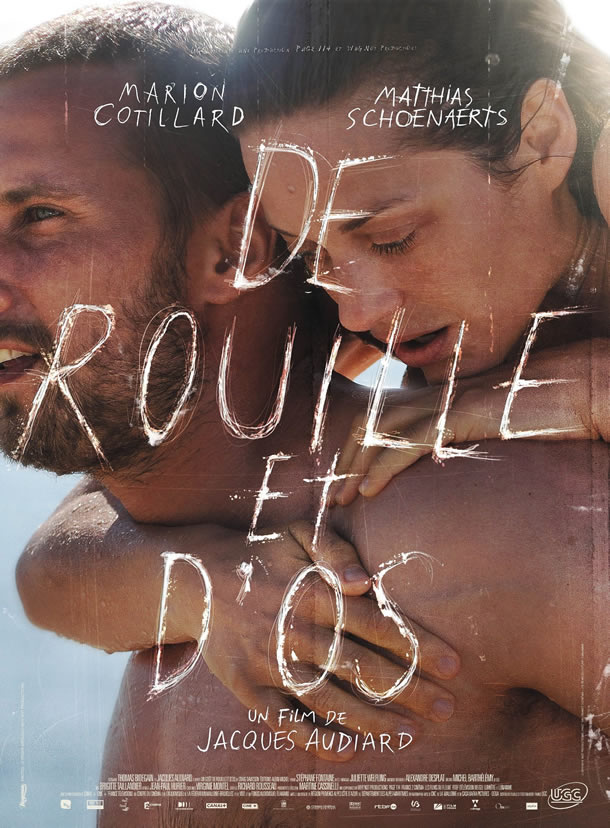 Marion Cotillard and Matthias Schoenaerts on the poster for Rust and Bone