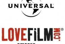 Universal and Lovefilm Logos