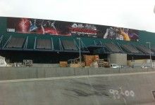 From the 5 freeway, little Tekken Tag Tournament 2 banner