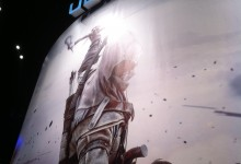 AC3 banner at Ubisoft's E3 2012 booth