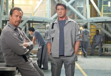 Arnold Schwarzenegger and Sylvester Stallone in The Tomb