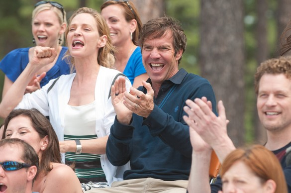 Dennis Quaid and Uma Thurman in Playing for Keeps