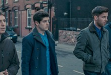 Gerard Kearns, Iwan Rheon, Luke Treadaway and Matthew Lewis in Wasteland