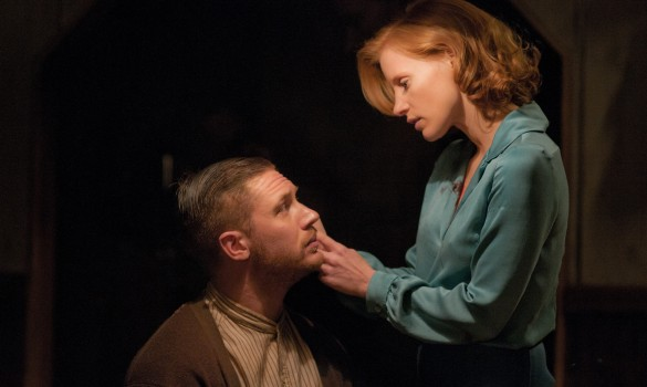 Jessica Chastain and Tom Hardy in Lawless