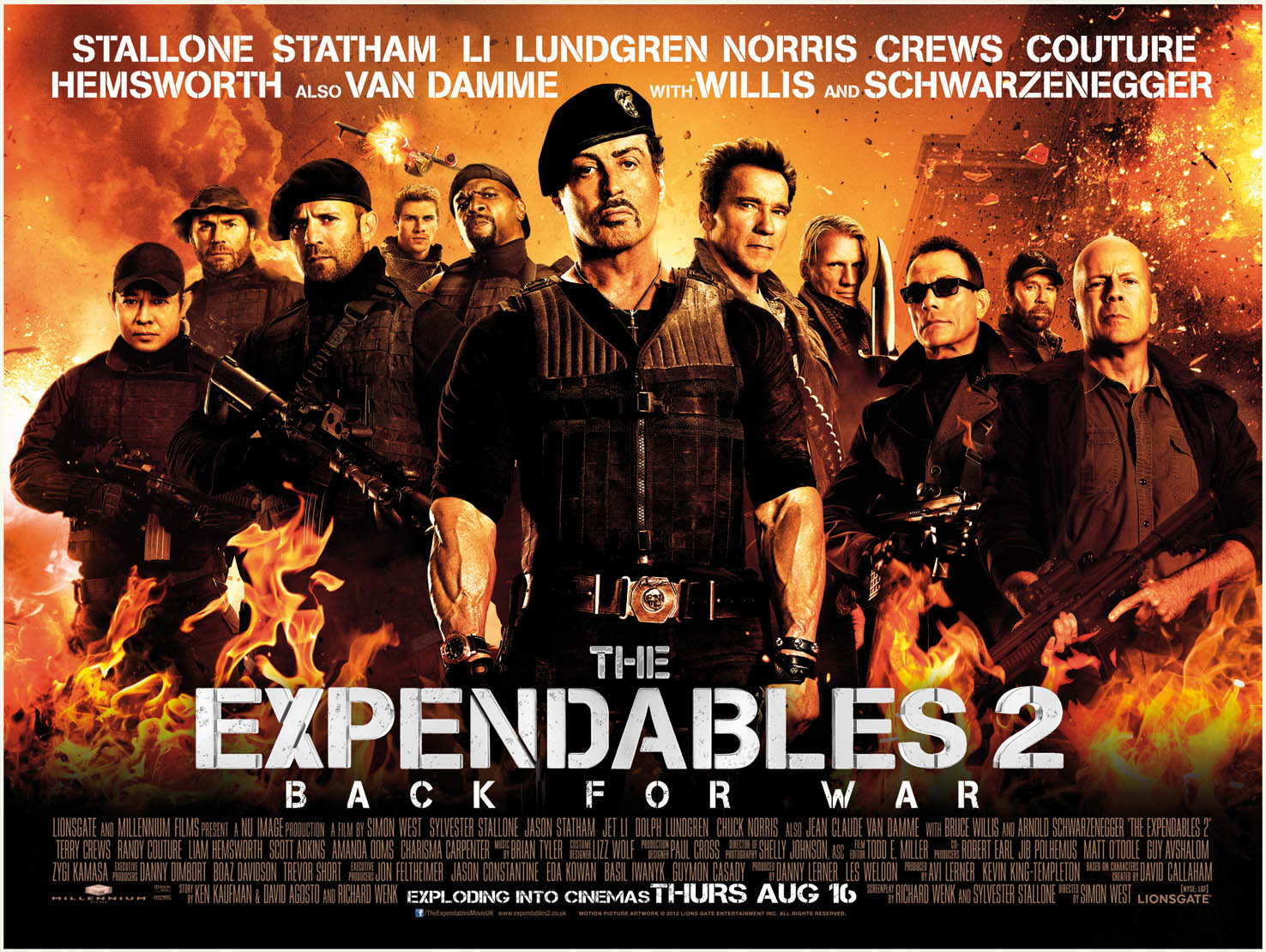 The Expendables UK Poster - HeyUGuys