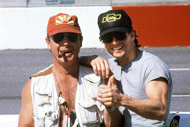Tony Scott And Tom Cruise On The Days Of Thunder Set