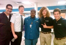 Workaholics on Arrested Development Set