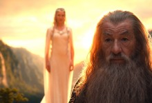 Cate Blanchett and Ian McKellen in The Hobbit: An Unexpected Journey