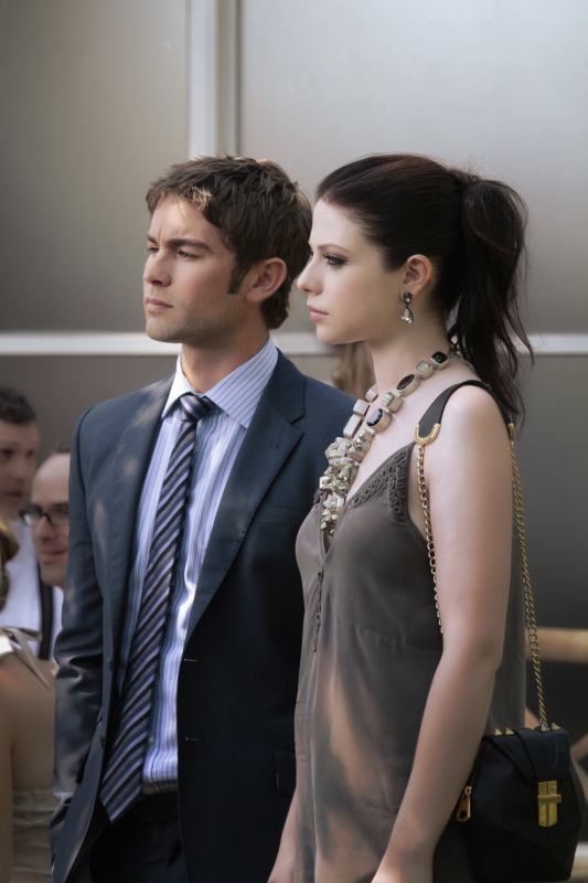 chace crawford and michelle trachtenberg in gossip girl