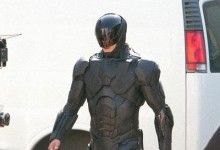 Joel Kinnaman on set of RoboCop