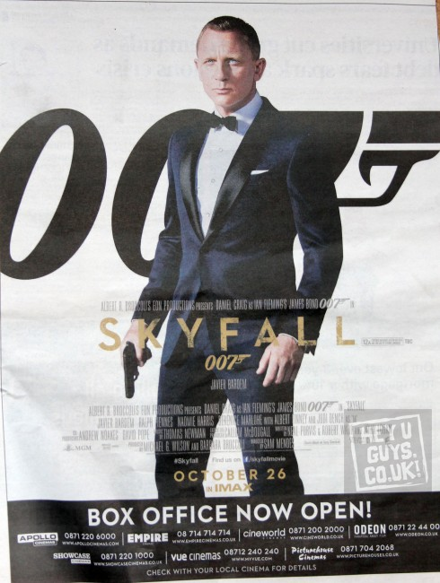 SKYFALL Poster Revealed  James Bond 007