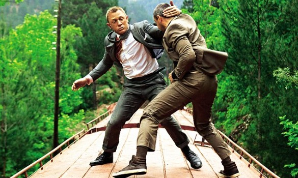 Daniel Craig and Ola Rapace in Skyfall