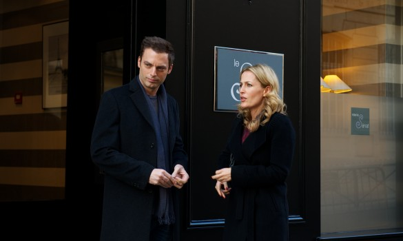 Justin Kirk and Gillian Anderson in Mr. Morgan's Last Love
