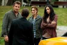 Liam Neeson, Maggie Grace and Famke Janssen in Taken 2