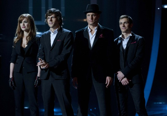Isla Fisher, Jesse Eisenberg, Woody Harrelson and Dave Franco in Now You See Me