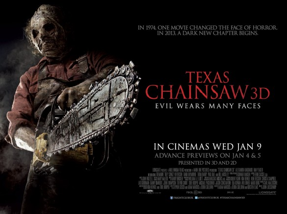 Texas Chainsaw 3D UK Quad Poster