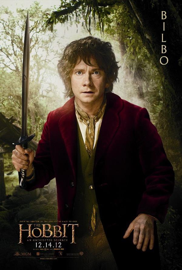 The hobbit an unexpected journey character poster bilbo