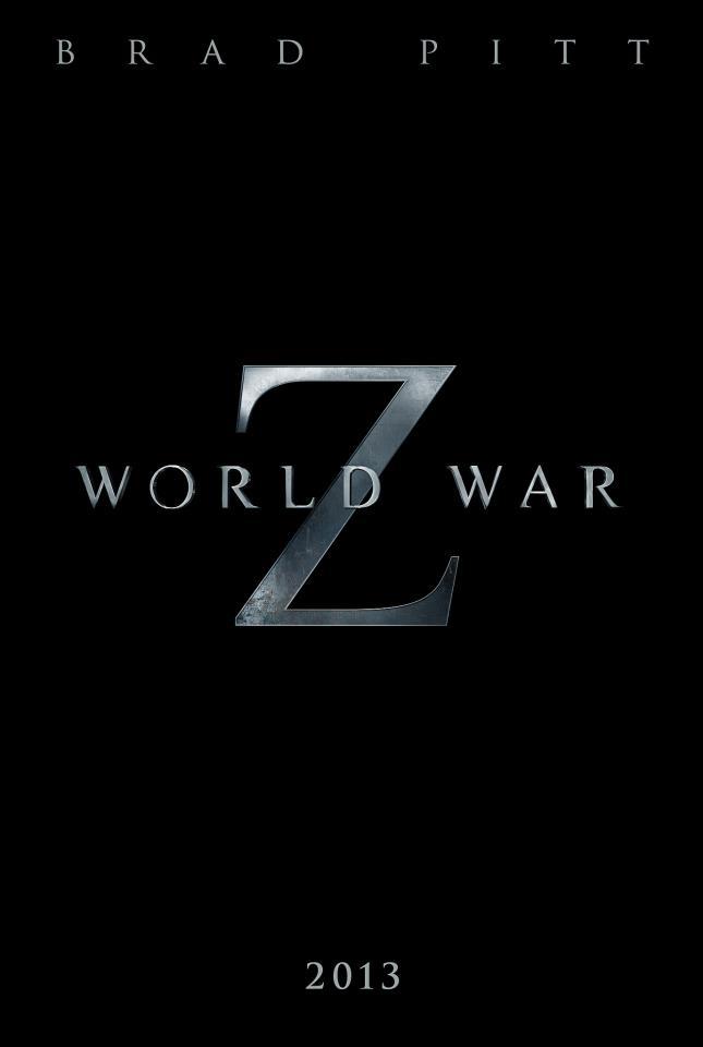 First teaser poster for world war z with brad pitt