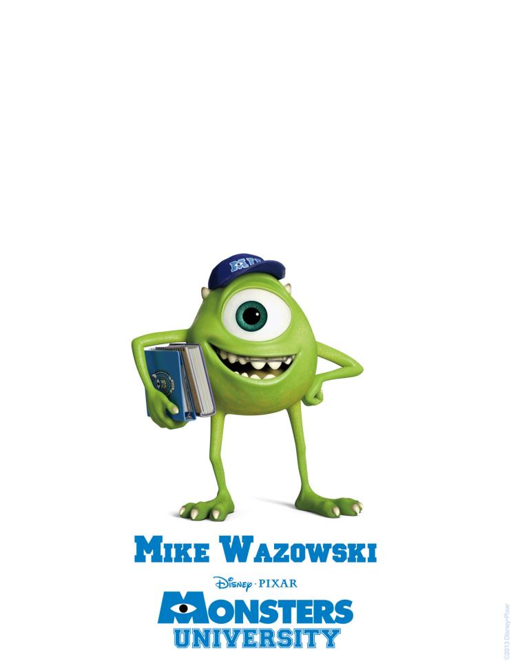 Monsters University Character Poster - Mike Wazowski ...