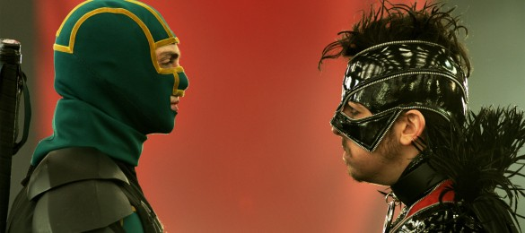 Aaron Taylor-Johnson and Christopher Mintz-Plasse in Kick-Ass 2