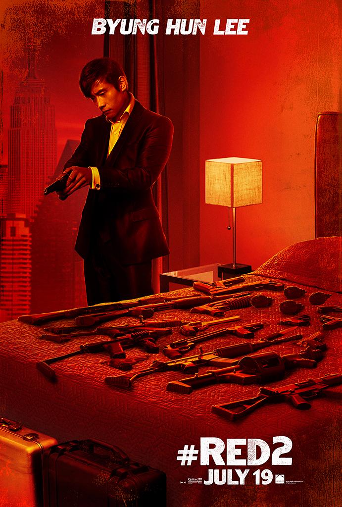 RED 2 Character Poster - Lee Byung-hun - HeyUGuys