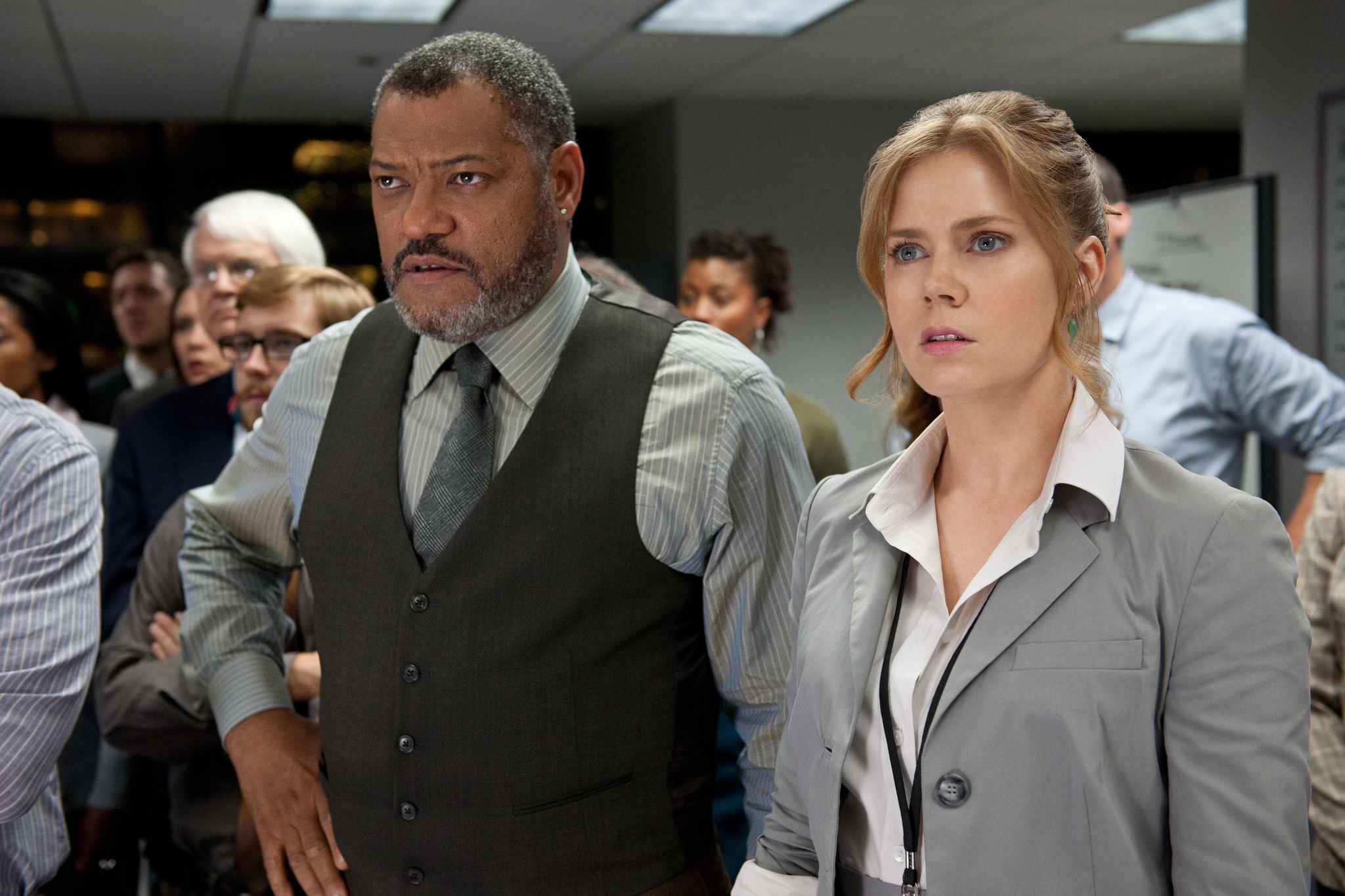 Laurence Fishburne and Amy Adams in Man of Steel - HeyUGuys