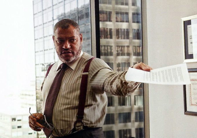 Laurence Fishburne in Man of Steel - HeyUGuys