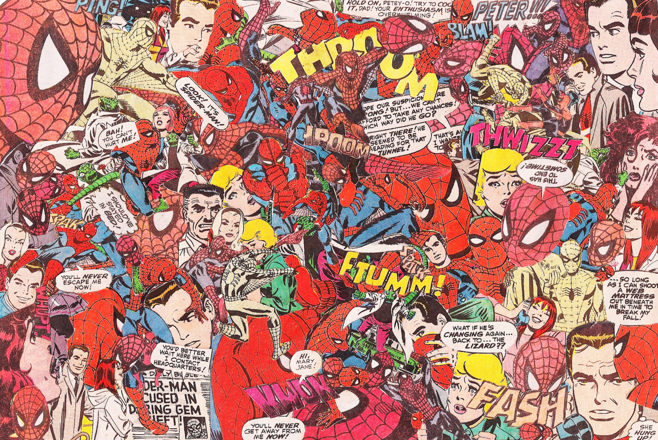 Comic Book Collage - HeyUGuys Vintage Comic Book Background