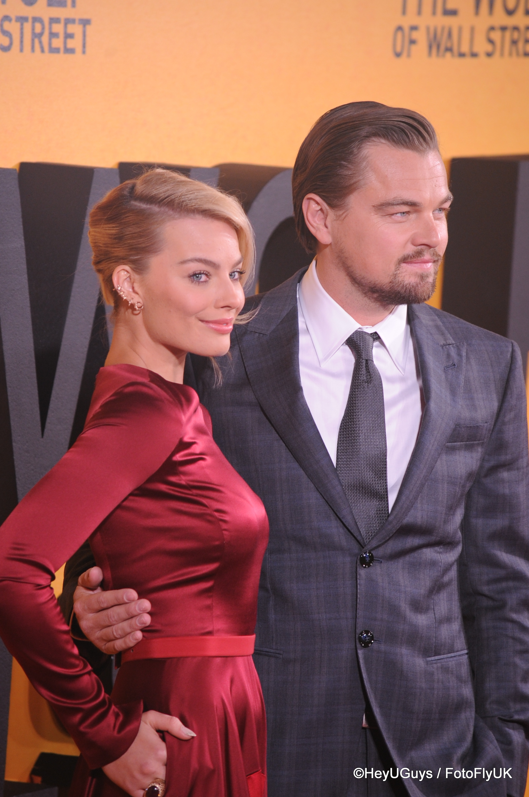 Leonardo Di Caprio And Margot Robbieat The Wolf Of Wall