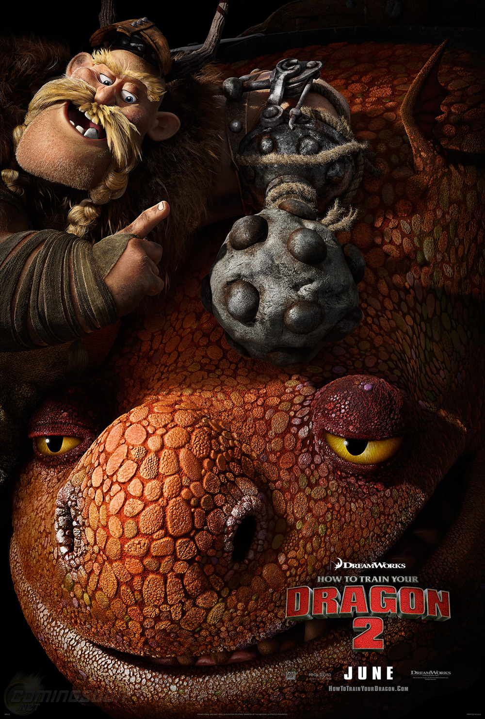 How To Train Your Dragon 2 Character Poster €� Gobber And Grump