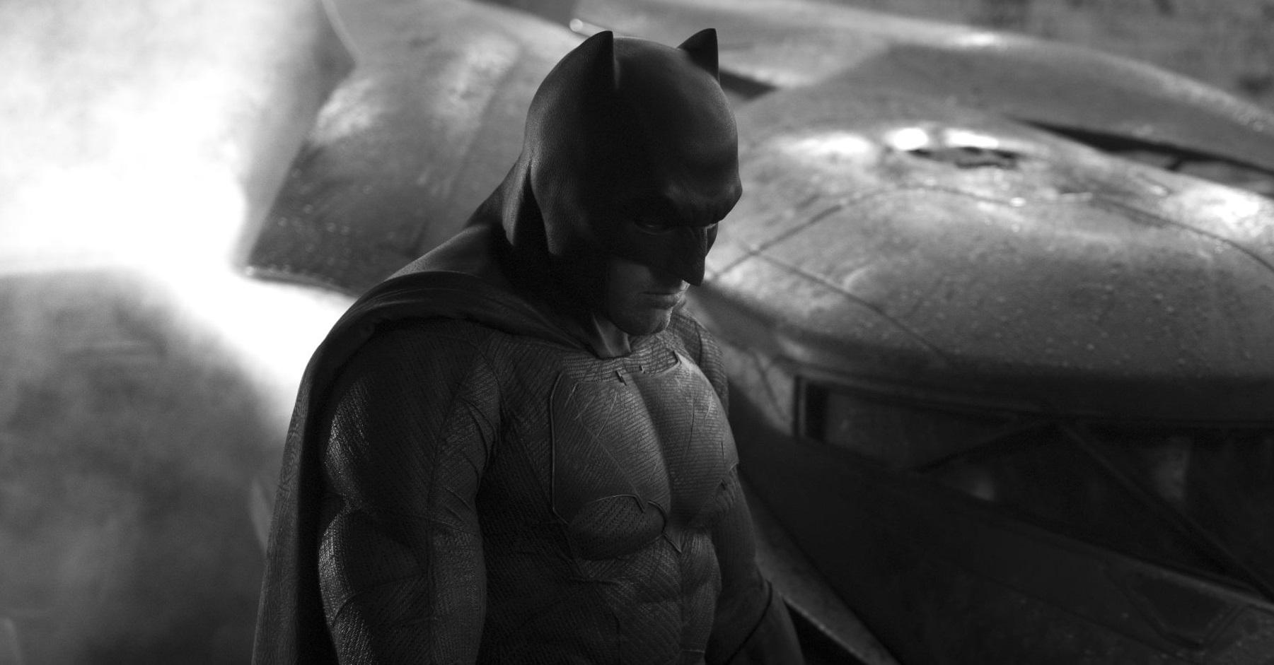 first look at ben affleck as batman and batmobile in