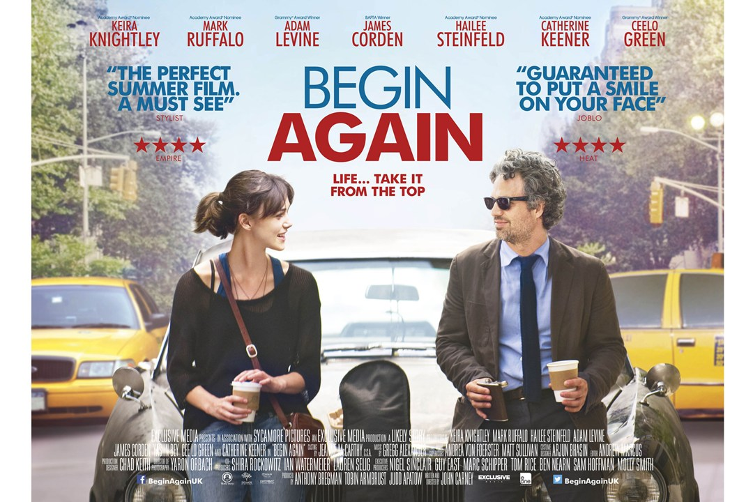 Begin Again UK Poster