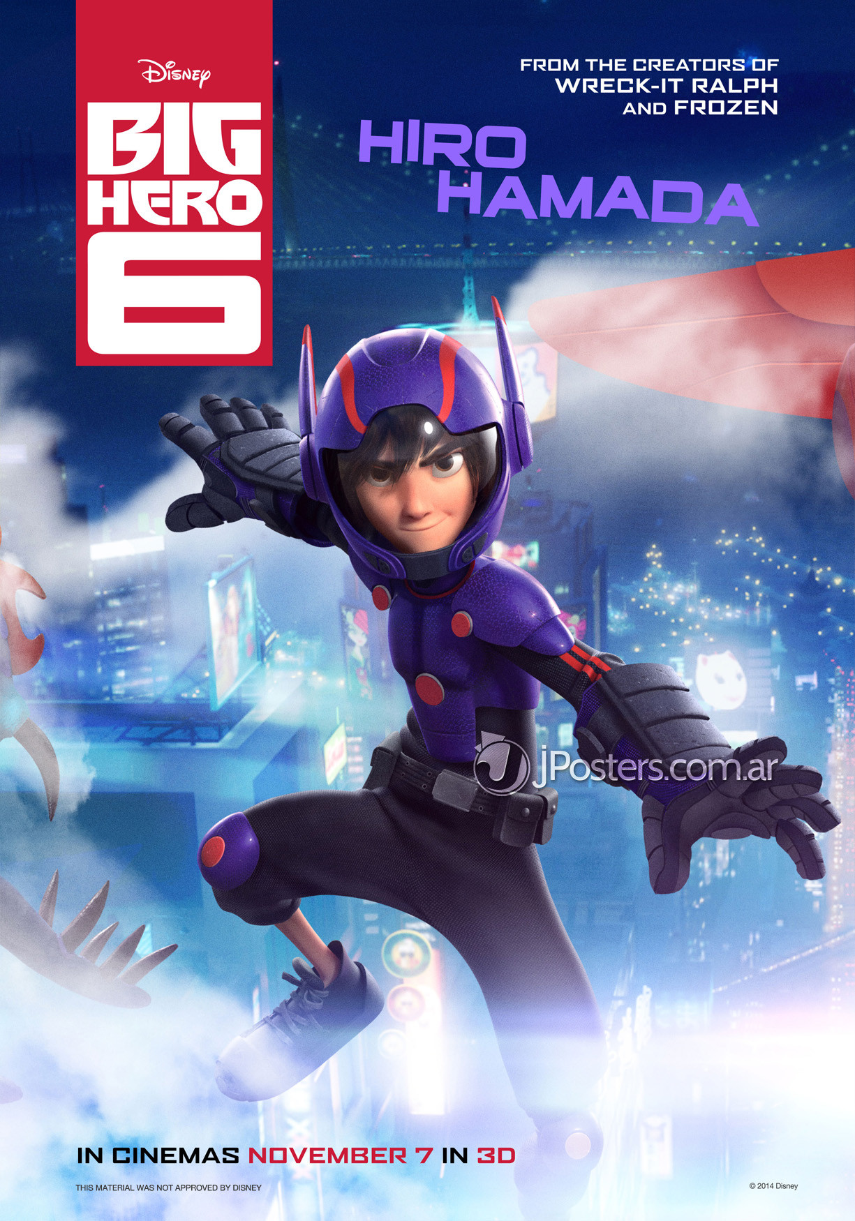 Character Posters for Marvel and Disney Animationu0026#39;s Big Hero 6