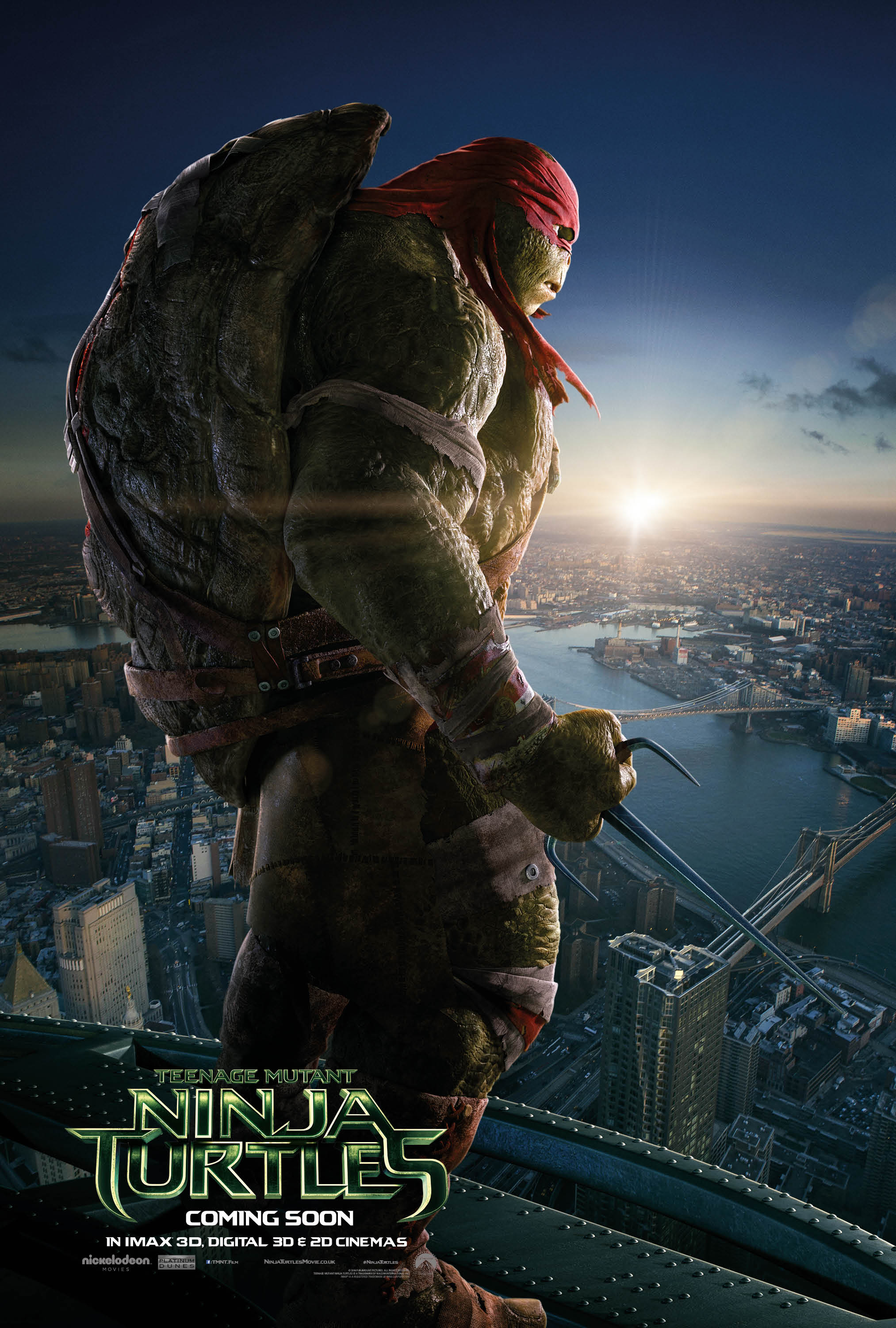 Four New Character Posters for Teenage Mutant Ninja Turtles