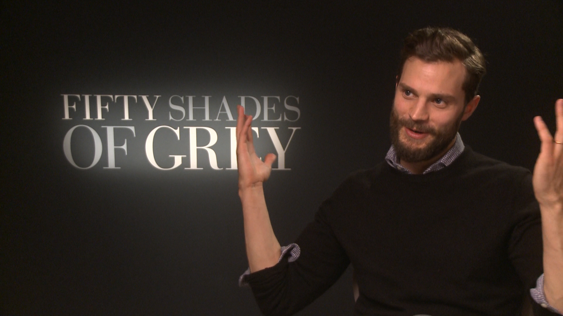 Video interviews fifty shades of grey stars jamie dornan for When does fifty shades of grey