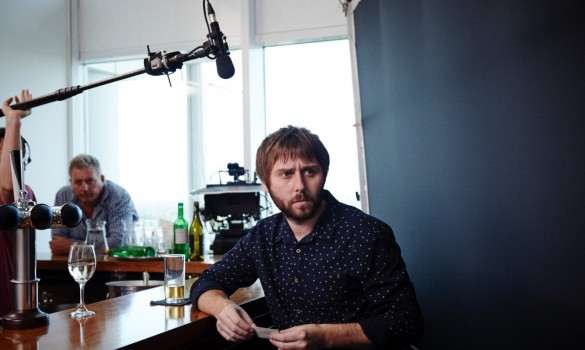 James Buckley on set