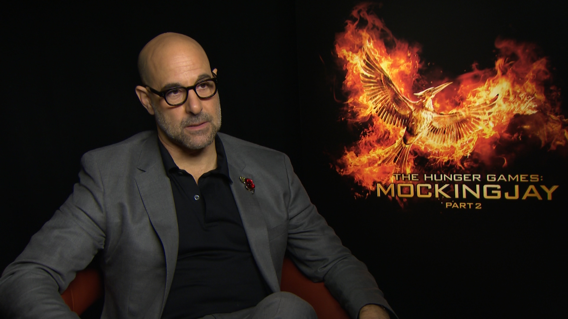Stanley Tucci Interview The Hunger Games: Mockingjay Part 2 Stanley Tucci Hunger Games