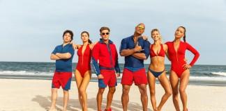 BAYWATCH movie cast on a beach as you'd expect